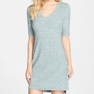 Tart 'Daria' Mélange T-Shirt Dress Green XS
